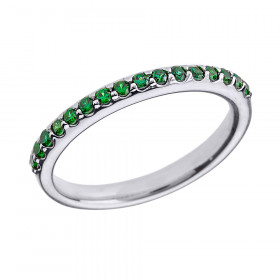 CZ Half Eternity Eternity Wedding Ring in 9ct White Gold