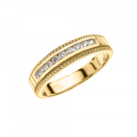 CZ Half Eternity Wedding Ring in 9ct Gold
