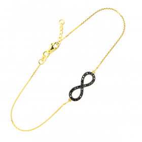 CZ Infinity Bracelet in 9ct Gold