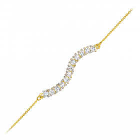 CZ Journey Bracelet in 9ct Gold