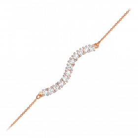 CZ Journey Bracelet in 9ct Rose Gold