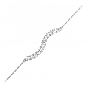 CZ Journey Bracelet in 9ct White Gold