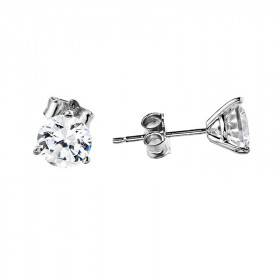 CZ Martini Stud Earrings in 9ct White Gold