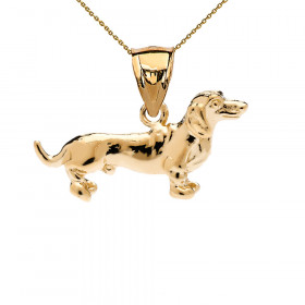 Dachshund Pendant Necklace in 9ct Gold