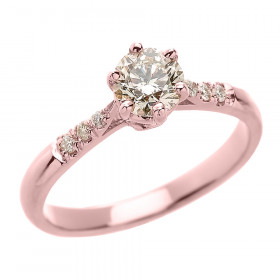 0.6ct Diamond 6-Prong Solitaire Engagement Ring in 9ct Rose Gold