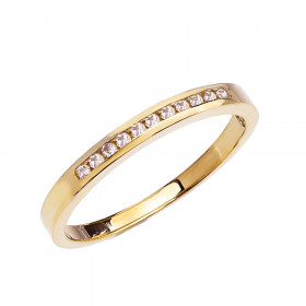 Diamond Channel Set Half Eternity Wedding Ring in 9ct Gold