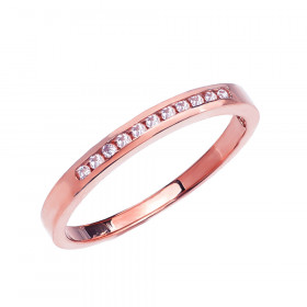 Diamond Channel Set Half Eternity Wedding Ring in 9ct Rose Gold