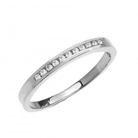 Diamond Channel Set Half Eternity Wedding Ring in 9ct White Gold