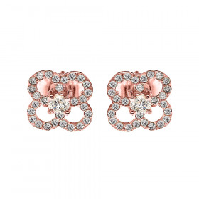 0.05ct Diamond Elegant Stud Earrings in 9ct Rose Gold