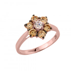 Diamond Engagement Ring in 9ct Rose Gold