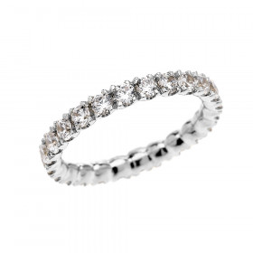 Diamond Eternity Eternity Wedding Ring in 9ct White Gold