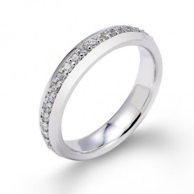 Diamond Eternity Wedding Ring in 9ct White Gold