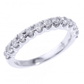 Diamond Half Eternity Eternity Wedding Ring in 9ct White Gold
