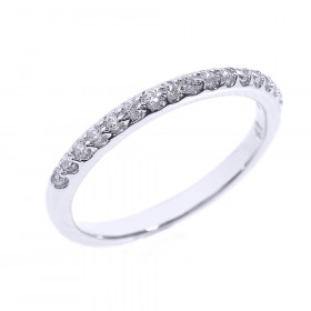 Diamond Half Eternity Wedding Ring in 9ct White Gold