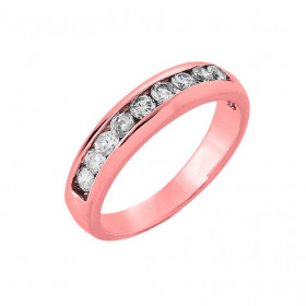 Diamond Half Eternity Wedding Ring in 9ct Rose Gold