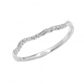 0.15ct Diamond Half Eternity Wedding Ring in 9ct White Gold