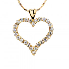 1.0ct Diamond Heart Pendant Necklace in 9ct Gold