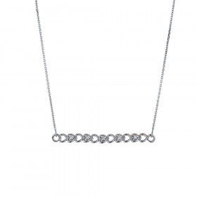 Diamond Hearts Pendant Necklace in 9ct White Gold