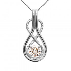 0.25ct Diamond Infinity Rope Pendant Necklace in 9ct White Gold