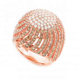 Diamond Pave Cocktail Ring in 9ct Two-Tone Gold