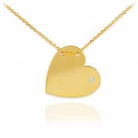 Diamond Pendant Necklace in 9ct Gold