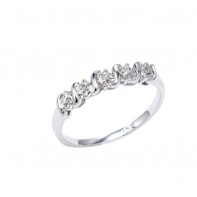 Diamond Ring in 9ct White Gold
