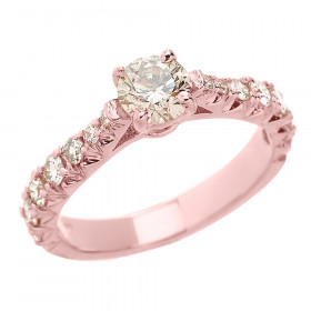 0.6ct Diamond Solitaire Engagement Ring in 9ct Rose Gold
