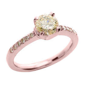 1.0ct Diamond Solitaire Engagement Ring in 9ct Rose Gold