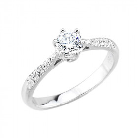 0.35ct Diamond Solitaire Engagement Ring in 9ct White Gold