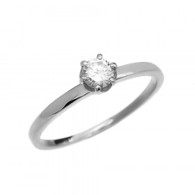 0.2ct Diamond Solitaire Engagement Ring in 9ct White Gold