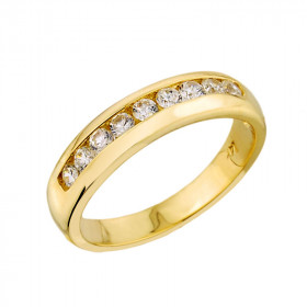 0.38ct Diamond Unisex Anniversary Half Eternity Wedding Ring in 9ct Gold