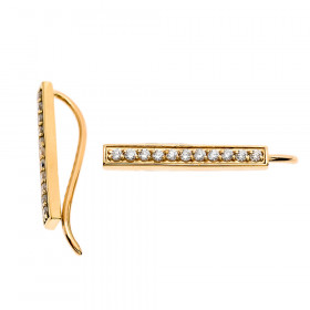 Diamond Vertical Bar Earrings in 9ct Gold