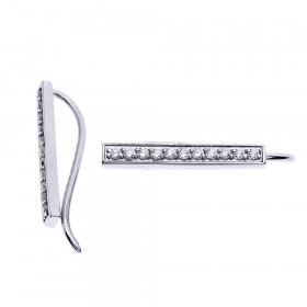 Diamond Vertical Bar Earrings in 9ct White Gold