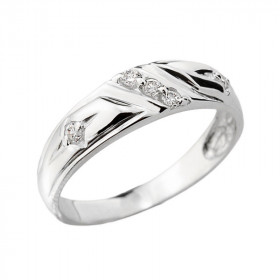 0.08ct Diamond Wedding Ring in Sterling Silver