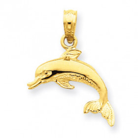 Dolphin Pendant Necklace in 9ct Gold