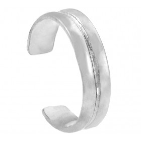 Double Classic Toe Ring in 9ct White Gold