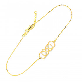 Double Knot Infinity Bracelet in 9ct Gold