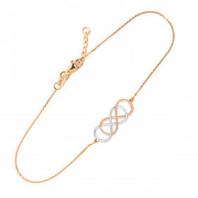 Double Knot Infinity Bracelet in 9ct Two-Tone Gold