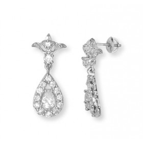 Drop Earrings in 9ct White Gold