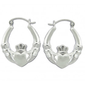 Earrings in 9ct White Gold