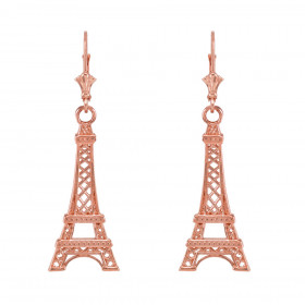 Eiffel Tower Earrings in 9ct Rose Gold