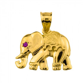Elephant Pendant Necklace in 9ct Gold