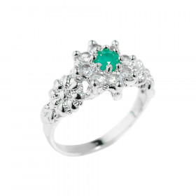 0.31ct Emerald Beauty Ring in Sterling Silver