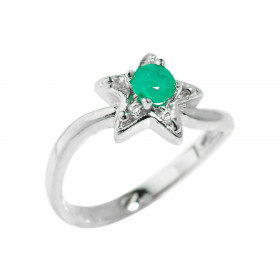 0.31ct Emerald Ring in Sterling Silver