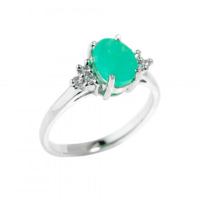 1.23ct Emerald Ring in Sterling Silver