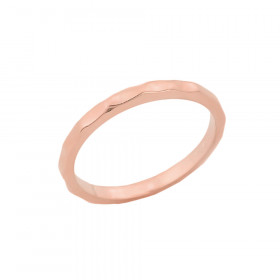 Hammered Knuckle Ring in 9ct Rose Gold