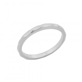Hammered Knuckle Ring in 9ct White Gold