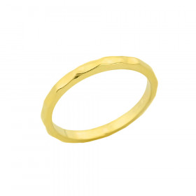 Hammered Toe Ring in 9ct Gold