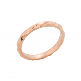 Hammered Toe Ring in 9ct Rose Gold