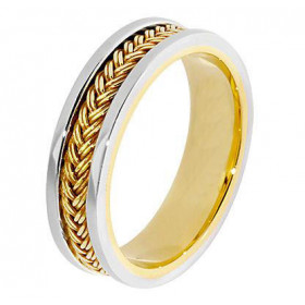 Hand Braided Celtic Wedding Ring in 9ct Gold